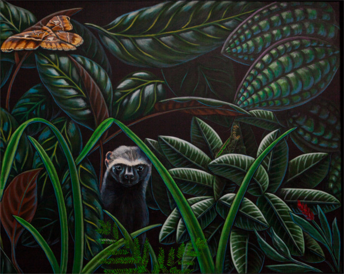 jungle, wild life painting, artist Robin Moulyn